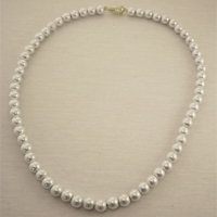 Magnetic Synthetic Pearl Necklace